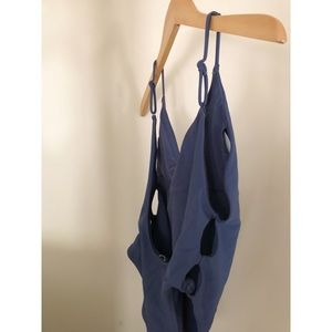 8065e3bf358e1 aerie Swim | Arie Voop One Piece Suit In Slate Blue Size S | Poshmark